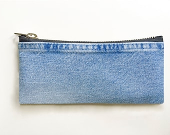 Small Denim Pouch - Hand Crafted from Salvaged Jeans