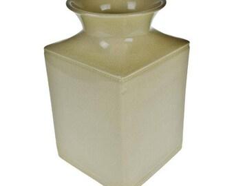 Silhouettes Square Linen Colored Vase In Box by Deb Hrabik