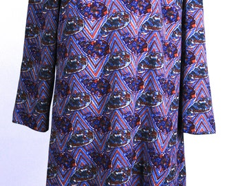 1960's Abstract Colorful Amy Adams Knit Dress