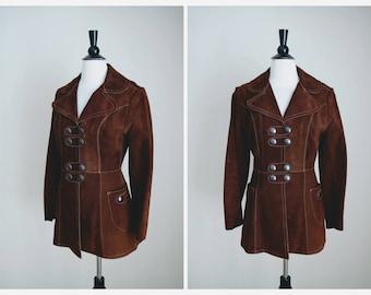 Vintage 70s Suede Jacket - Mod 1960s Suede Coat