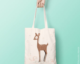 Deer Tote Bag in organic cotton