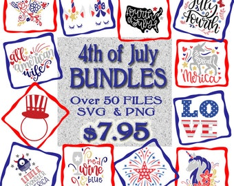 July 4th bundle SVG PNG Digital Download Cut File for Cricut Cameo Silhouette America Cut File Independence Day Patriots USA svg 4th of July