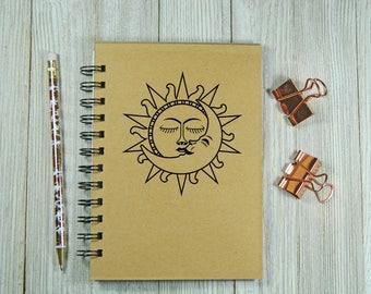 Sun and Moon notebook/journal