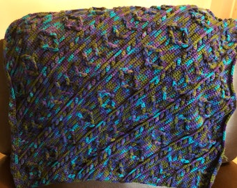 Multicolored Textured Baby Blanket