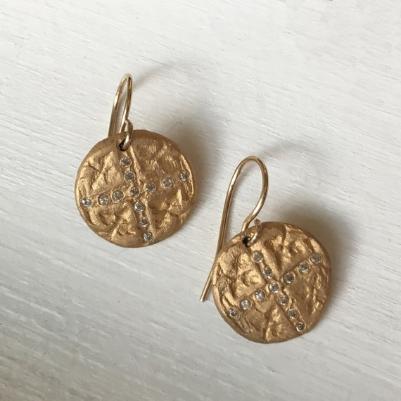 Cosette Earrings in Bronze and gold
