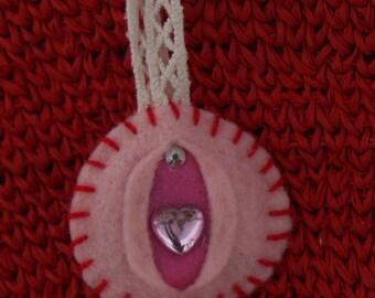 Little Pink Sweetheart - iFelt Vaginas Goddess Small Felt Decoration Romance Series
