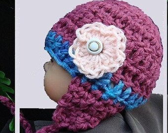 Crochet HAT  Pattern-  Number 10, Crochet  For  Beginners, Newborn To Adult,  Beanie Or Ear  Flap  Hat all sizes.instant download