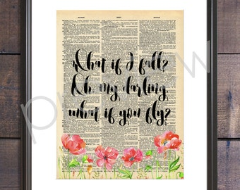 What If I Fall Oh My Darling What If You Fly Quote Instant Download - What If I Fall Quote - Downloadable Wall Art