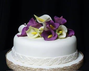 Calla Lilies -  Cake Decor (by 12 pc.)