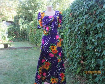 Hippie Dress / Bohemian Dress / Long Dress / Size EUR40 / UK12