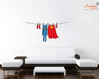 Superman Laundry Wall Decal
