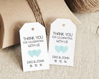 Thank You Tag MEDIUM Wedding Tag Gift Tag Love Laurels