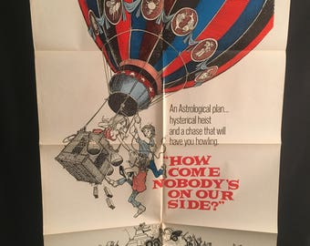 Original 1977 How Come Nobody's On Our Side One Sheet Movie Poster, Hot Air Balloon, Comedy