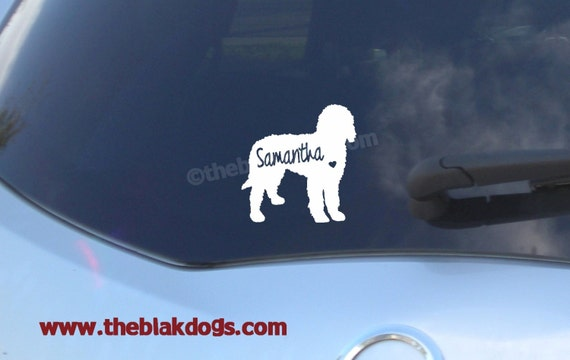 Labradoodle goldendoodle silhouette vinyl sticker car decal