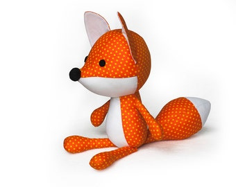 Sewing Pattern Fox PDF Stuffed Toy Plush Softie