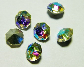 Vintage Crystal Tatania 28ss Faceted Chaton Jewels from Czechoslovakia (12)