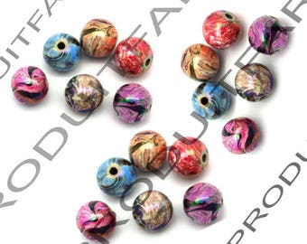 Colorful 8 mm for pendant jewelry necklace set of 200 round beads