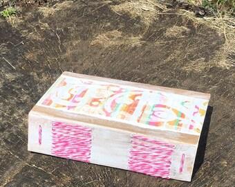 Long Bound Mini Smashbook - Junk Journal - Handbound Blank Book - Art Book