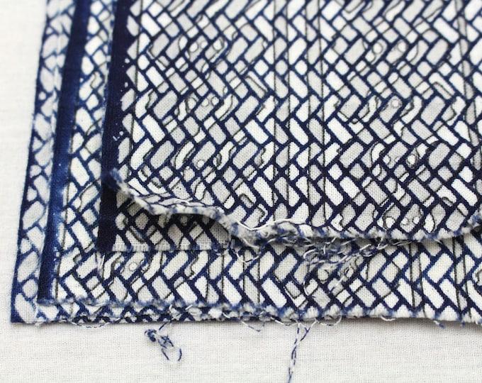 Japanese Vintage Indigo Yukata Cotton. Hand Dyed Indigo.  (Ref: 1710)