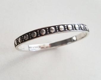 Vintage silver bangle bracelet, Wahlbergs, Sweden. 1952 (F1333)