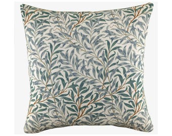 William Morris Willow Bough Cushion, Leaf Print Pillow, Botanical Decor, Floral Cushion Cover - Free Shipping UK