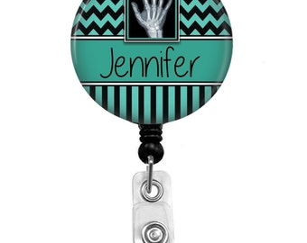 Badge Reel - Id Badge Holder - Badge Holder - ID Badge Reel - Retractable Badge - X Ray Technician - Name Badge Holder - Nurse Badge Reel -