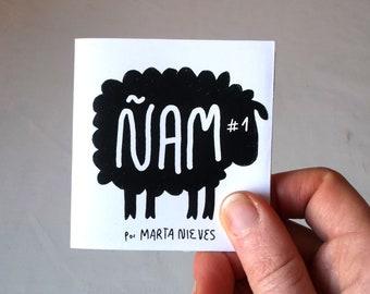 ÑAM #1 (mini-foldaway-zine) The Big Bad Wolf