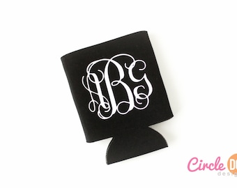 Monogram KOOZIE® (Script) - Custom Koozie, Personalized Beer/Soda Can Hugger, perfect for bachelorette party, girls weekend, thank you gift