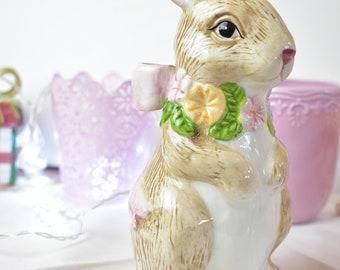 "Ceramic bunny rabbit figurine 8 1/2"", #05242018"