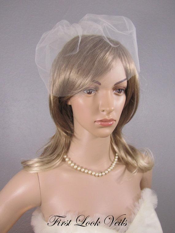 Birdcage Veil, Ivory Tulle Cage, Lace Comb, Tulle Birdcage, Short Veil, Wedding Vail, Bridal Veil, Viel, Bridal Accessory, Bridal Attire