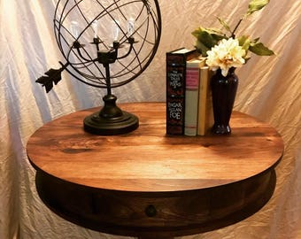 Hard Wood Pedestal Table