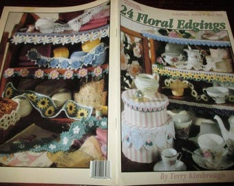 Thread Crochet Pattern Leaflet 24 Floral Edgings Leisure Arts 2847 Kimbrough Crocheting Patterns