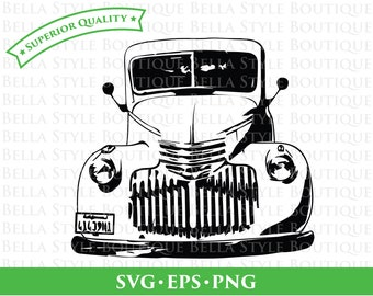 41 Chevy Truck with Waterfall Grill svg png eps cut file