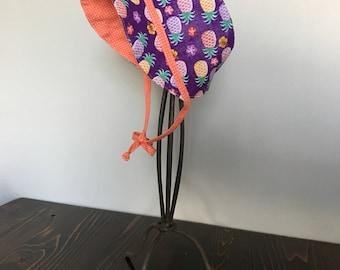Bonnet- Pineapple/Purple