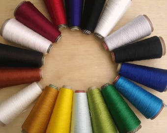 100g (3.5oz) of 20/2 spun silk in a variety of colors