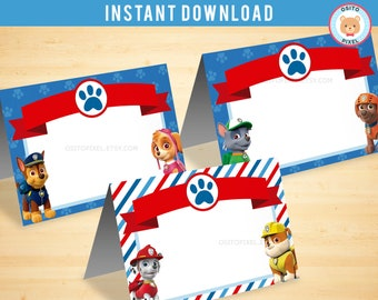 Food Label Paw Patrol | Instant Download | Paw Patrol Birthday | Paw Patrol Decoration | Paw Party Favor | Paw Patrol Printable | OsitoPixel