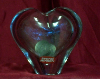 SEVEND JENSEN crystal heart shaped bank