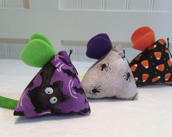 "Cat Nip Toy,  Cat Rats ""Halloween""  Collection, Three Blind Mice,Cat Nip Mice, Cat Nip Mouse,  Catnip Toy, Cat Nip, Quiltsy Handmade"