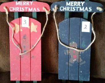 Christmas sled wall hanging