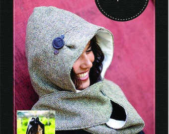Hooded Scarf e-pattern (pdf sewing pattern)