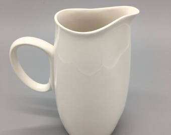 Vintage Franciscan Cloud Nine Pitcher from Japan. Mid Century Modern White Pitcher