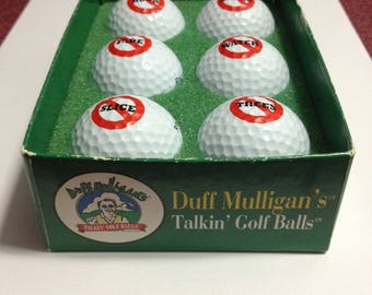 Vintage Duff Mulligan's Talkin' Golf Balls - REDUCED