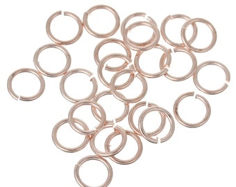 4 mm Rose Gold Plated Jump Rings (1596)