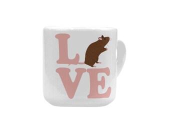 LOVE PHOENIX Heart-shaped Mug     A portion of proceeds goes towards Phoenix the Rat's Vet Care.