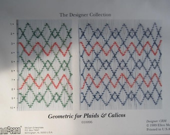 Smocking Plate - Geometric for Plaids & Calicos - The Designer Collection by Ellen McCarn (book 3)