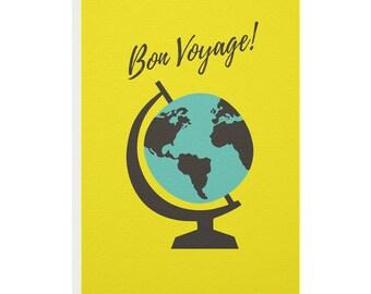 Bon Voyage Globe Greetings Card
