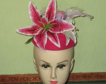 1950s Inspired Tropical Fun Pillbox Hat
