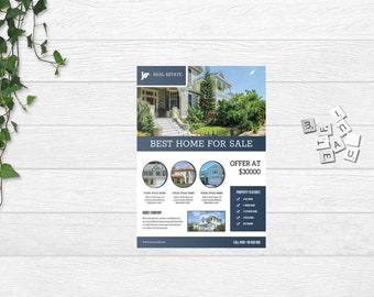 Real Estate Flyer Template , Relator Flyer,  Photoshop and Ms Word Template | Instate Download