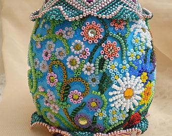 Beaded ornament Easter eggs Easter decoration Easter egg Handmade Easter décor Seasons