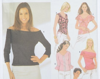 Sewing Pattern Simplicity 5875 Women's Top For Stretch Knits